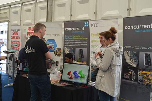 Concurrent engineering Stand at Formula Student