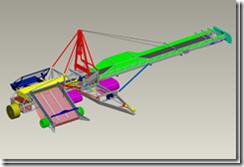 Model of Harvester in ProEngineer