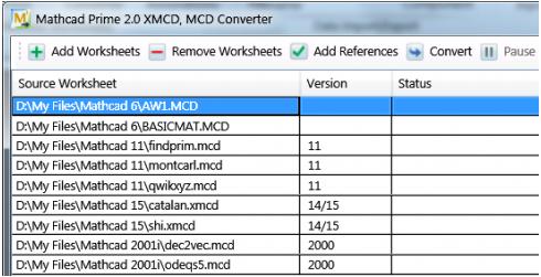 Mathcad Conversion worksheet