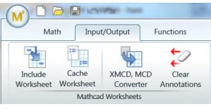 Mathcad worksheet conversion
