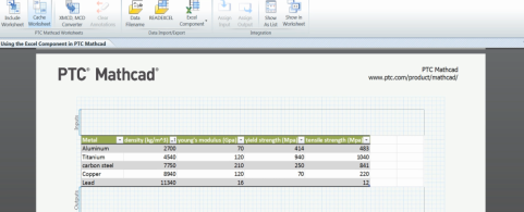 Excel Component