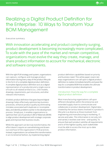 10 ways to transform your BOM management