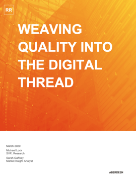 weaving quality into digital thread