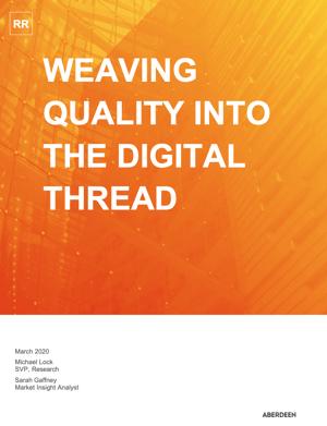 weaving quality into digital thread