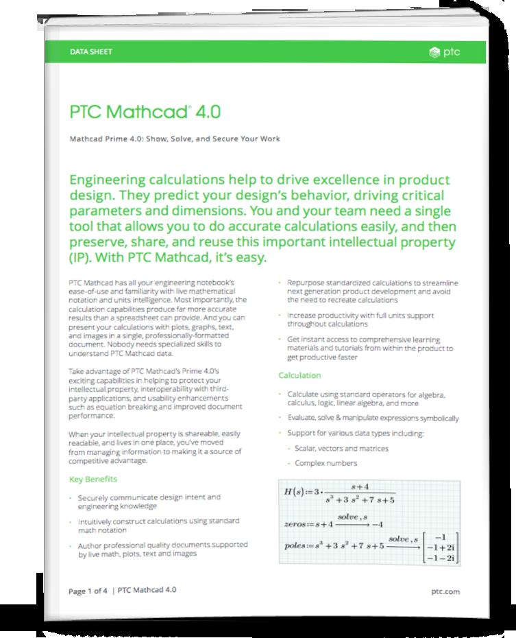PTC-mathcad-4.0-frontcover